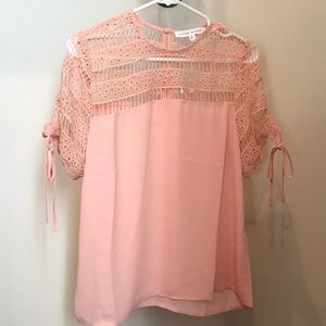 NWOT Blush Polyester lace blouse